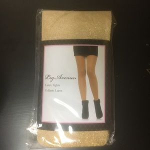 Gold glittery tights